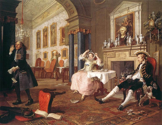 William Hogarth – The Marriage Settlement [The Tete a Tete, 1744]