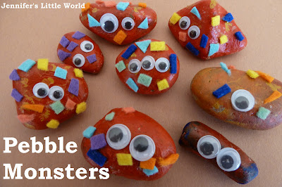 Pebble rock and stone monsters