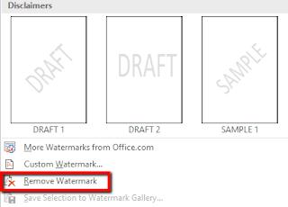 Cara Membuat Watermark pada Microsoft Word