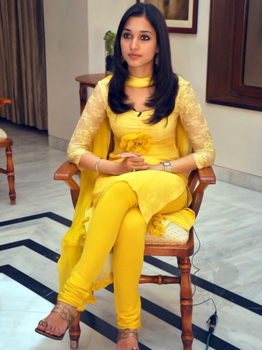 Tamanna In Yellow Churidar Dress Tollywood Stars