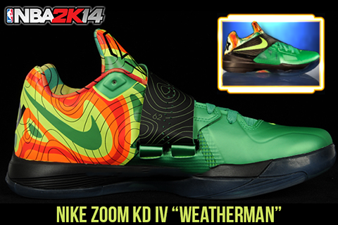 "b404bf5b1827 NBA 2K14 Nike KD IV ""Weatherman"" Shoes Patch"
