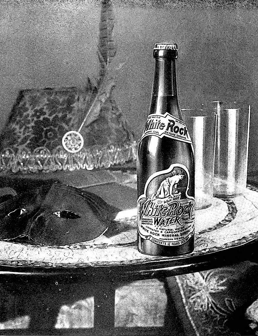 1920 White Rock bottled water, a photograph