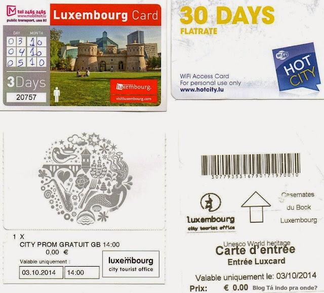 entradas e cartão de desconto em Luxemburgo