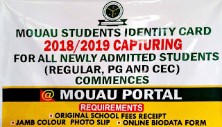 MOUAU Students ID Card Capturing Guidelines 2018/2019 [Freshmen]