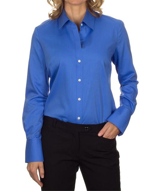 Model Baju Kemeja Kerja Wanita Warna Biru Branded