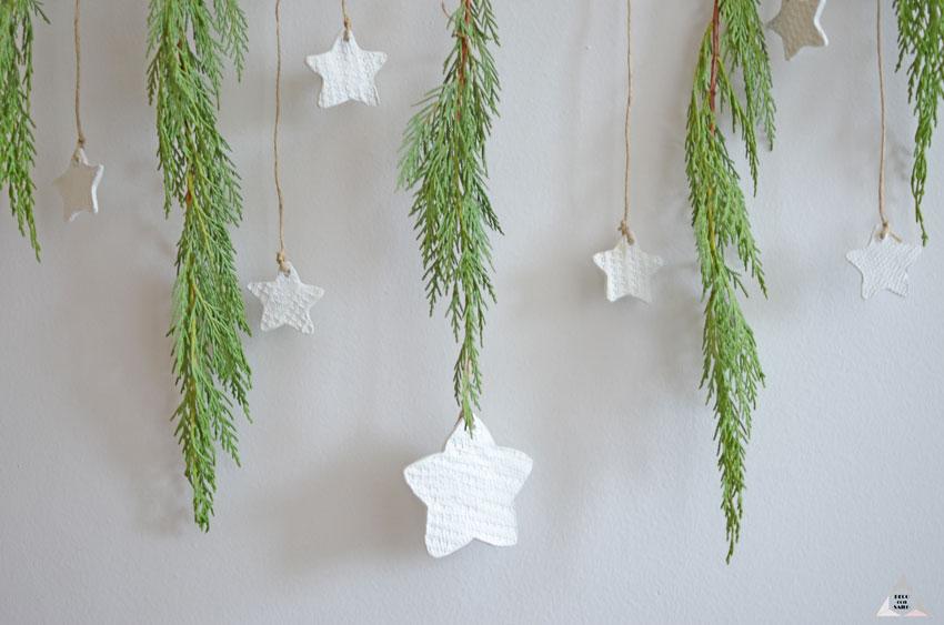decoracion navideña pasta de moldera estrellas