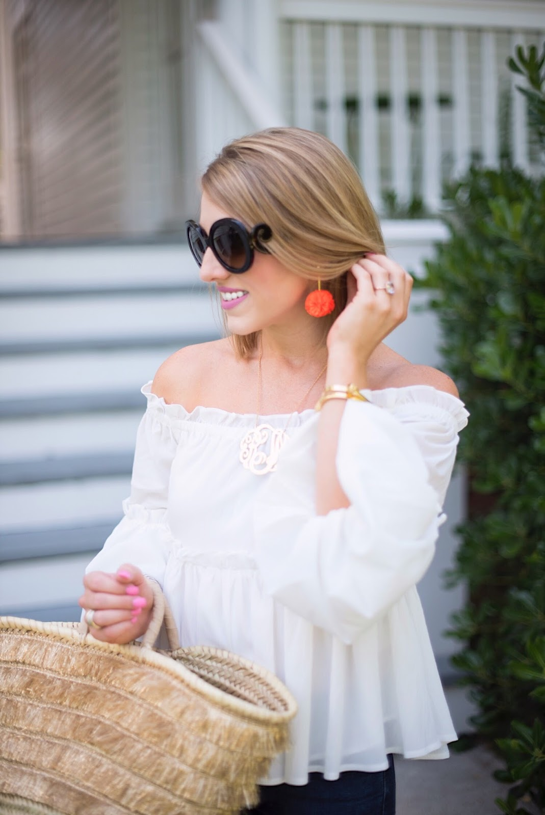 J.Crew Carnation Earrings - Click through to see more on Something Delightful Blog!