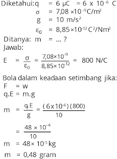 Jawaban soal fisika tentang listrik statis nomor 6