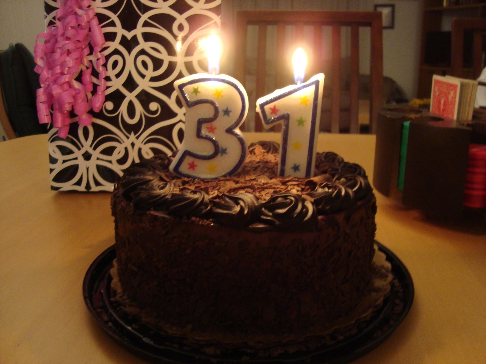 And The Kids Surprised Me With A Really Yummy Chocolate Birthday Cake I Love 31 On