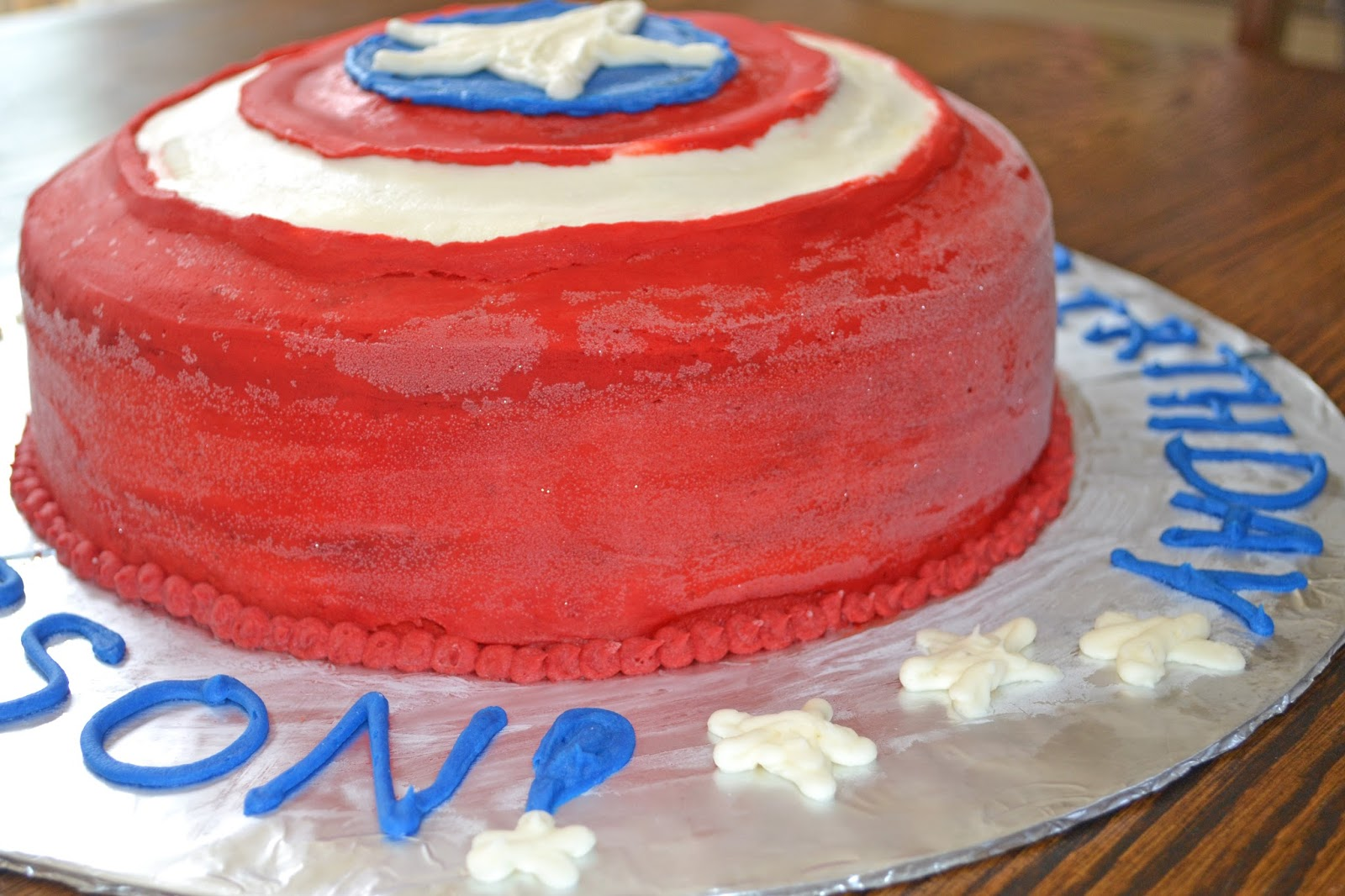 Affordable Cakes by Tiffany Captain America Shield Cake