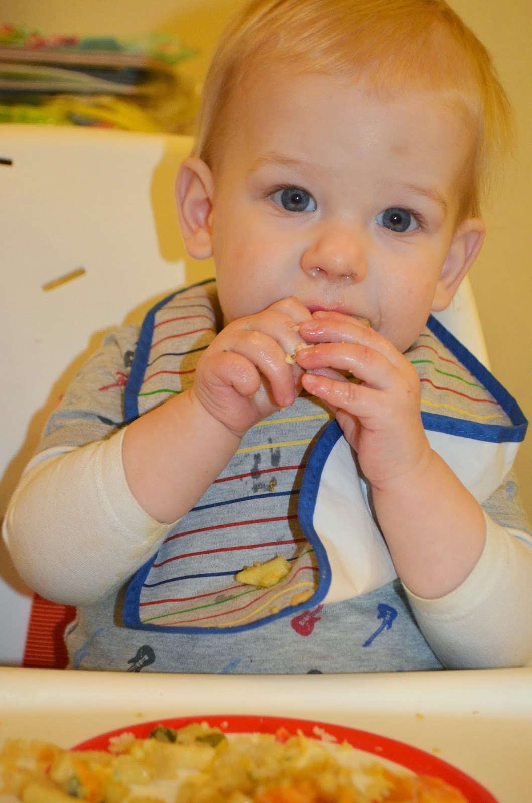 baby led weaning, ten months old, pasta loaf