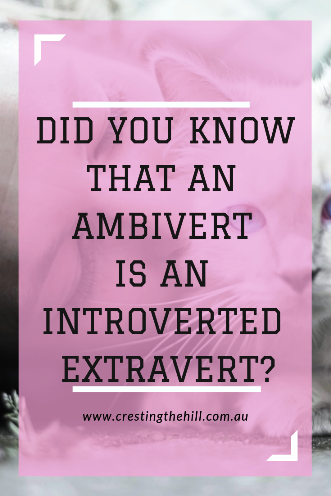 As time goes on we often blend characteristics of introversion and extraversion together - we become Ambiverts. #ambivert