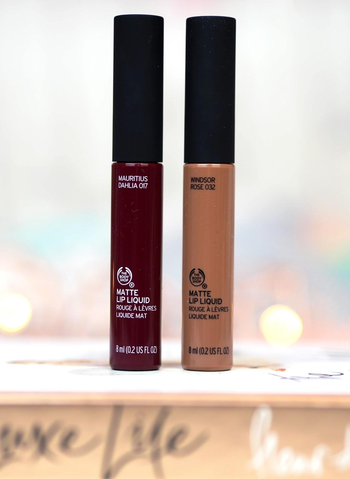The Body Shop Matte Lip Liquids Review Swatches