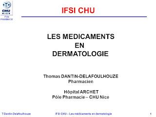 Les médicaments en dermatologie