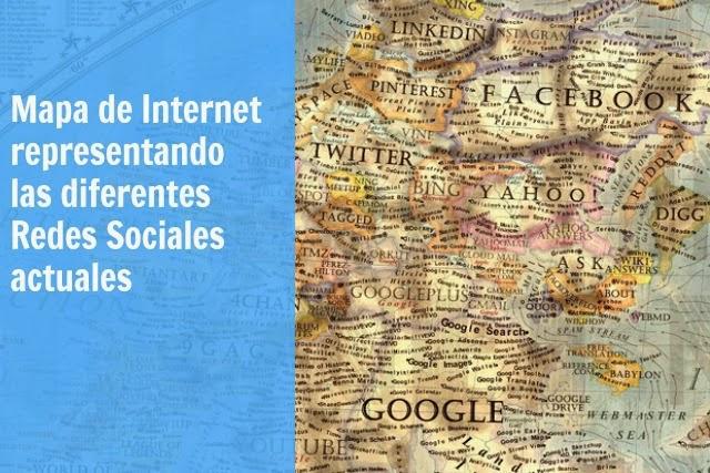 Simmons, mapa, poster, Internet, redes sociales, ilustración