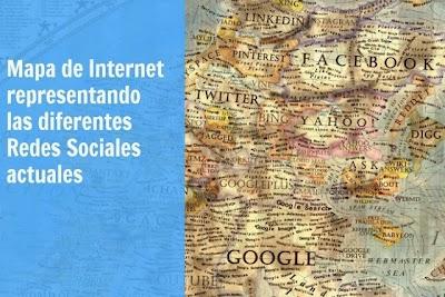 Mapa de Internet representando las Redes Sociales