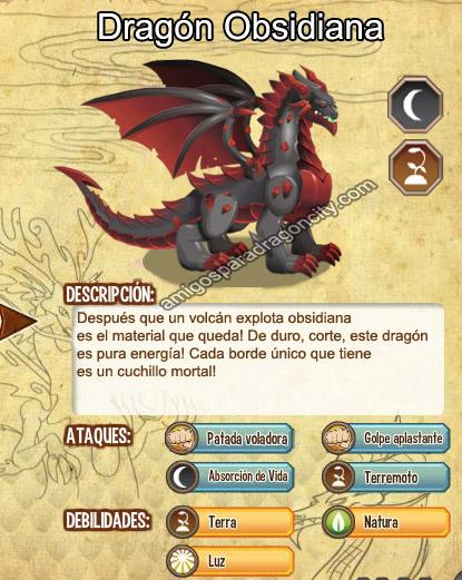 imagen del dragon obsidiana y sus caracteristicas