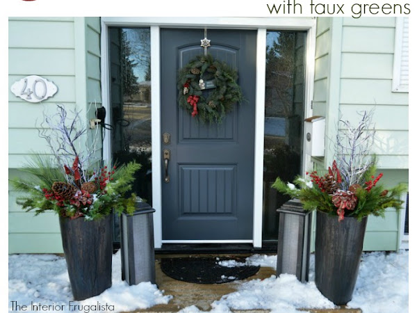 How To Create Festive Christmas Planters With Faux Greens