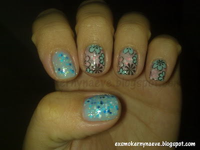Моите мании. My obsessions: Oriflame Glitter polishes and stamping decals.