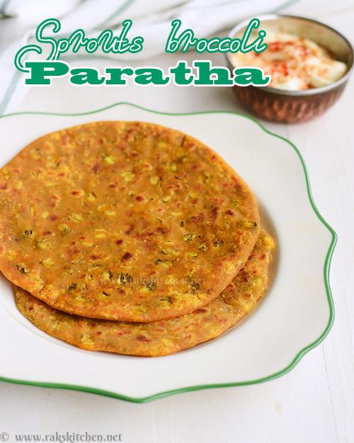 Sprouts broccoli paratha recipe | Raks Kitchen | Indian Vegetarian recipes