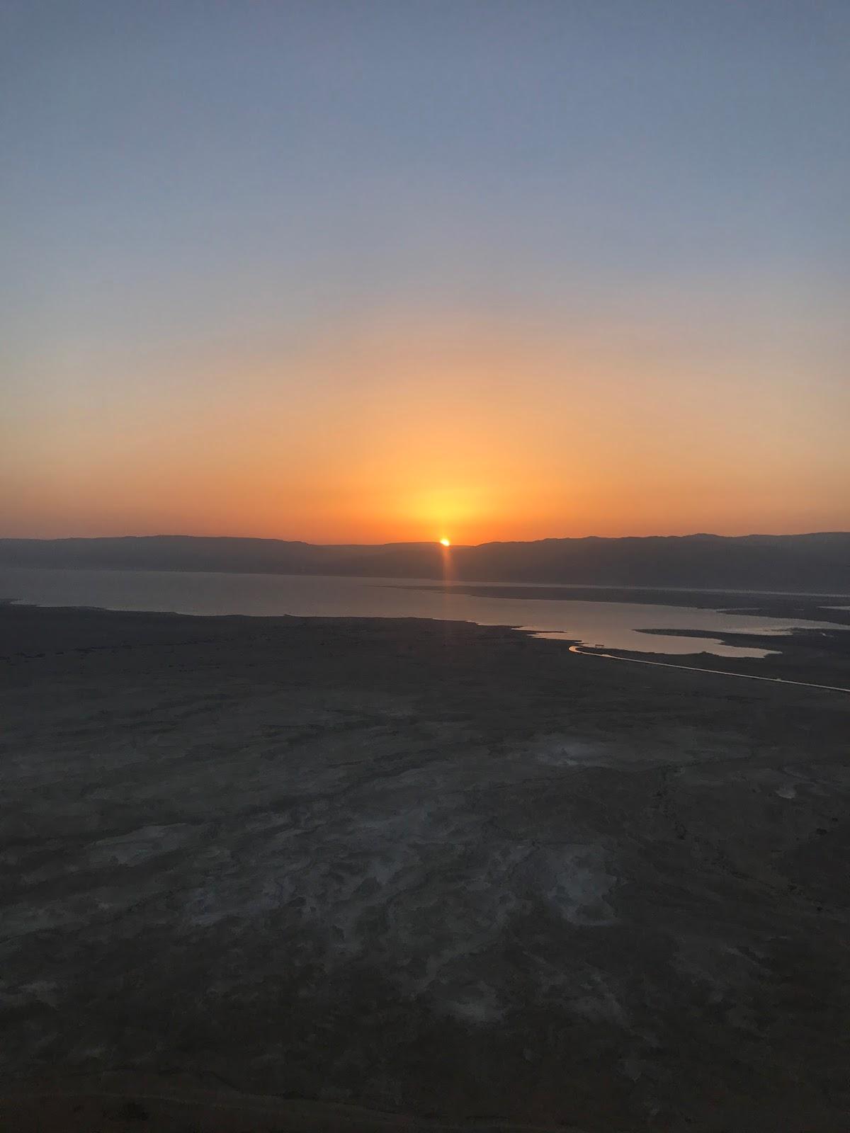 Masada sunset