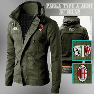 Jaket Parka Army AC Milan