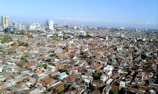 salah satu view kota Surabaya dari kawasan Embong Malang