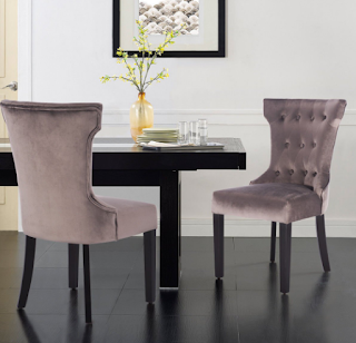 Giantex 2 Pcs Tufted Dining Chair