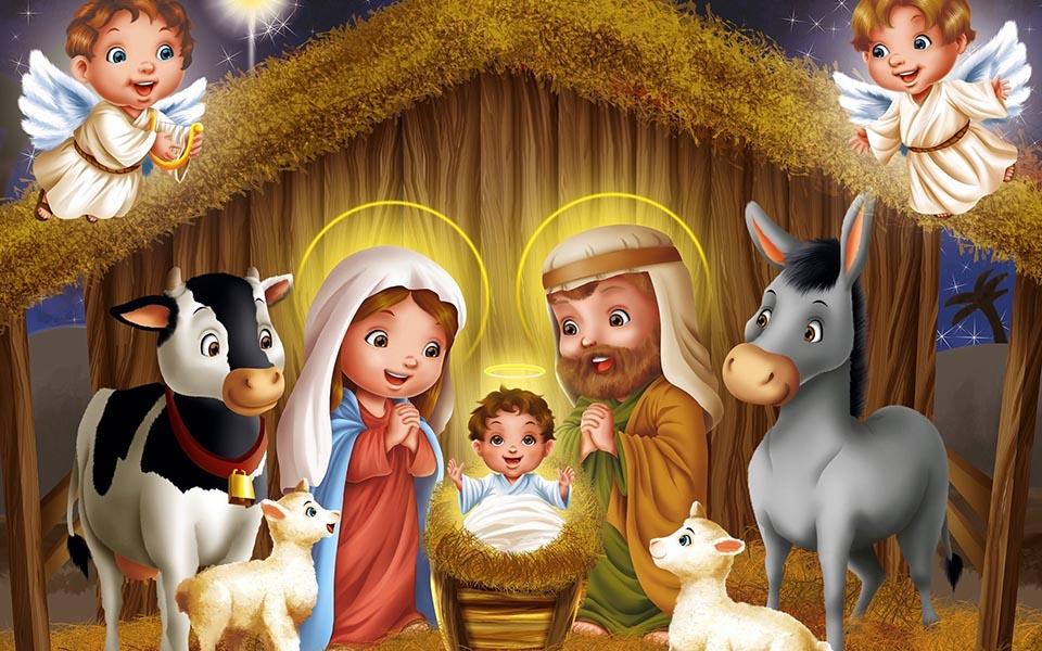 Dibujos De Navidad Del Nacimiento De Jesus.Imagenes De Nacimiento De Navidad