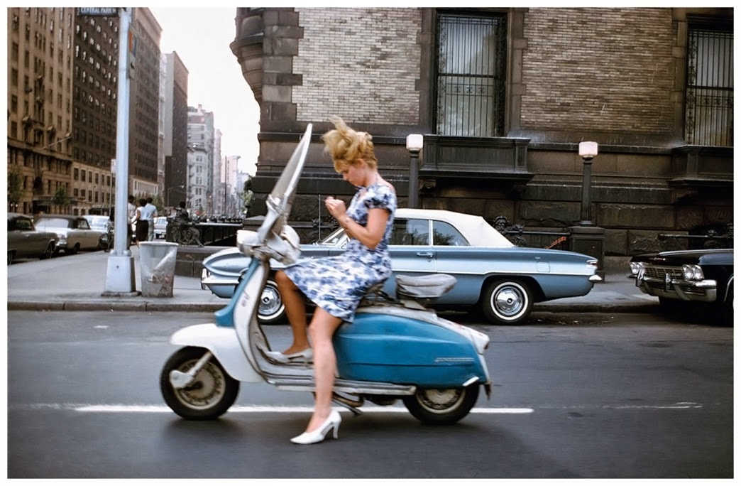A Girl On A Scooter New York City 1965 Vintage Everyday