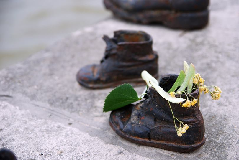 Shoes on the Danube Promenade Memorial at the Danube to the victims of the Holocaust