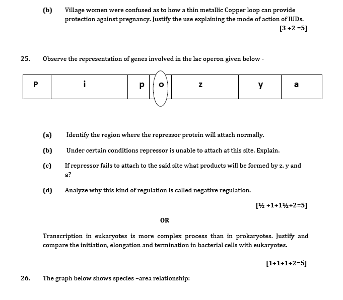 Sample Question paper for class 12 Biology