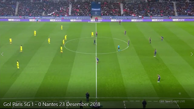 Replay Gol Paris SG 1 - 0 Nantes 23 Desember 2018