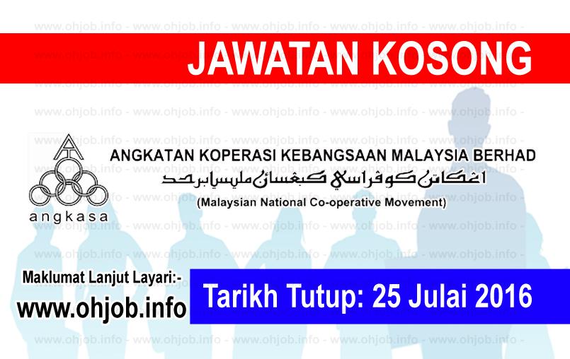 Jawatan Kerja Kosong Angkatan Koperasi Kebangsaan Malaysia Berhad (ANGKASA) logo www.ohjob.info julai 2016