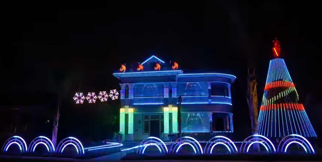 this star wars christmas light show has to be seen merry christmas everyone - Merry Christmas Star Wars