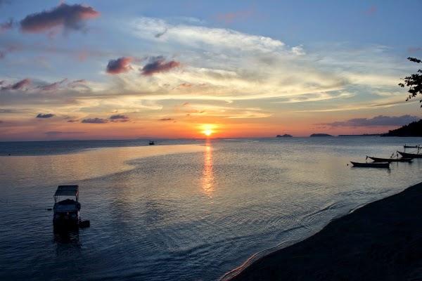 Koh Phangan Thai island sunset beach