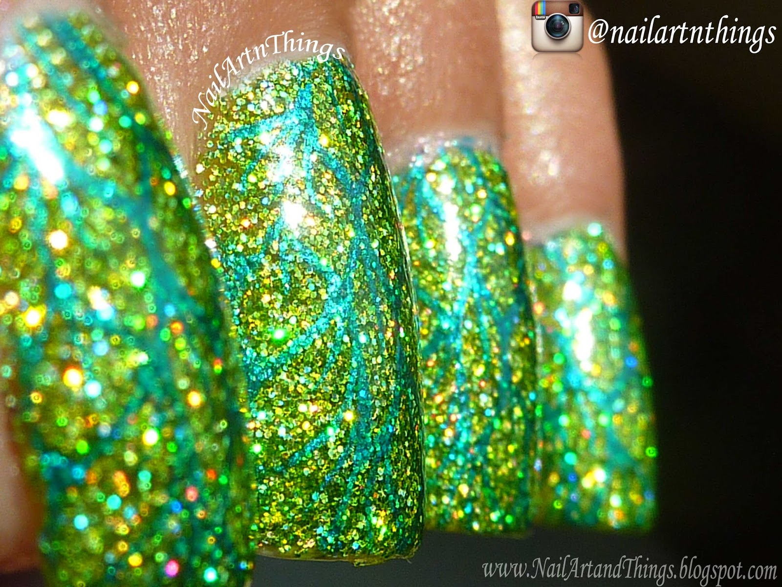 NailArt and Things: Krizia Tinker Bell Swatch and Spring Nail Art