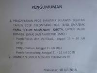 PENDAFTARAN PPDB 2018 GELOMBANG KE 3 JALUR AKADEMIK JENJANG SMK