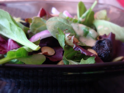 mixed green salad dried cherries and pepitas with balsamic vinaigrette