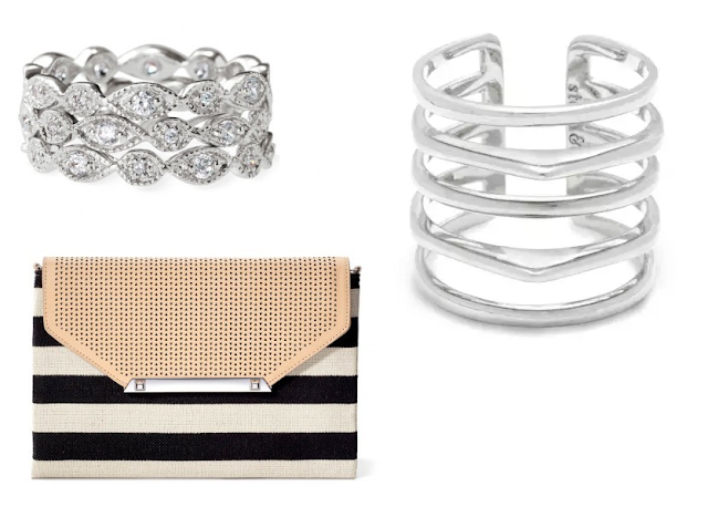 Stella & Dot Deco Rings, Maylee Ring and City Slim Clutch as seen on Ali Fedotowsky