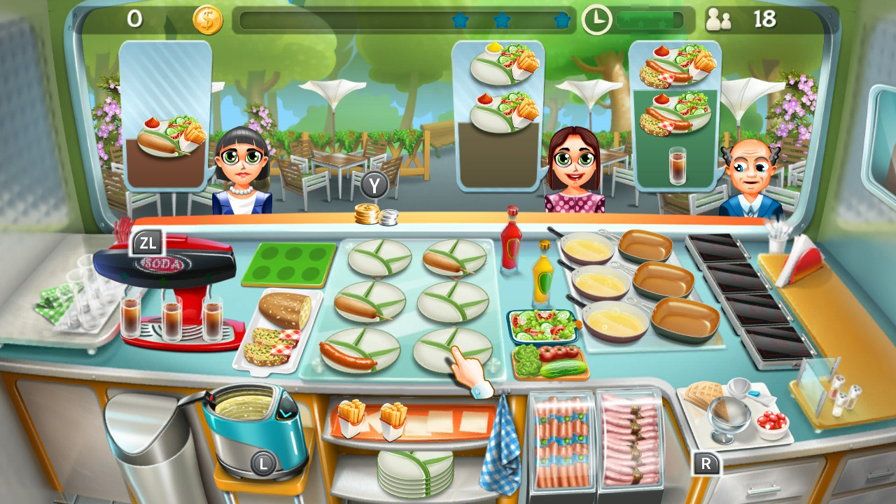 Food Truck Tycoon gameplay on Nintendo Switch