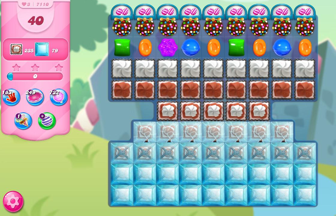 Candy Crush Saga level 7110