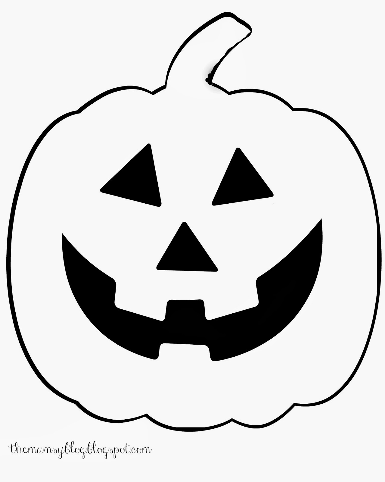 Happy Jack O Lantern Outline