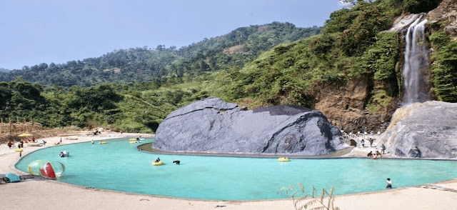 destinasi wisata palembang air terjun bidadari astianagt