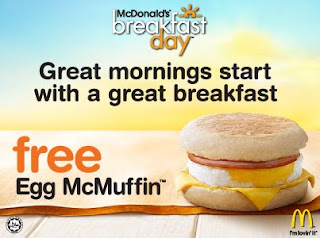 National Breakfast Day McDonald's Free McMuffin
