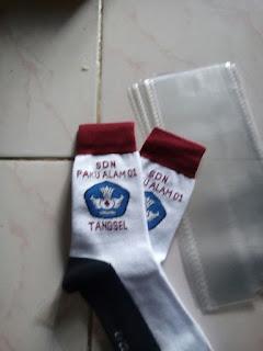 kaos kaki logo sekolah SDN Paku alam 01 Tangsel