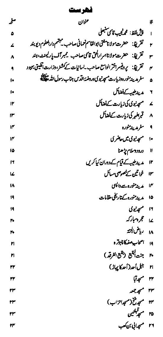 Safar e Madina Urdu Islamic Book PDF