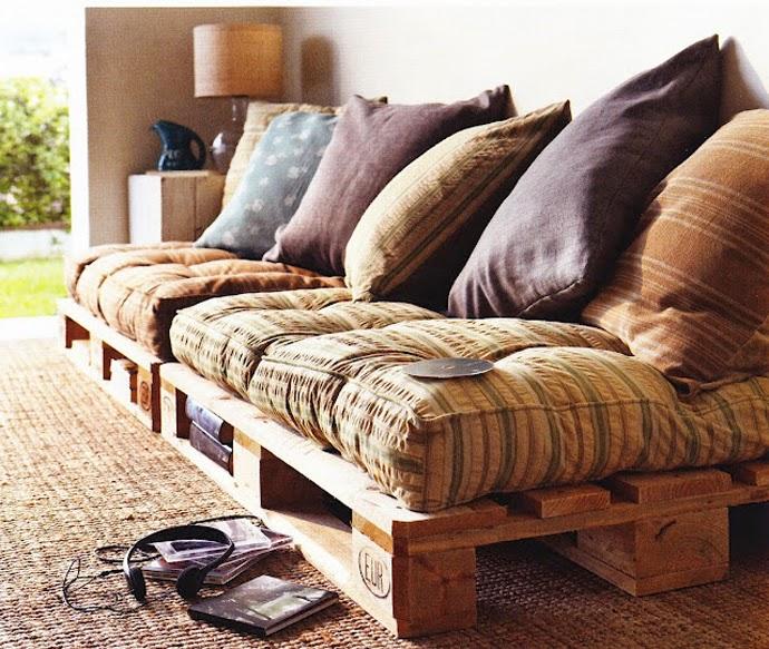 sofás de palets