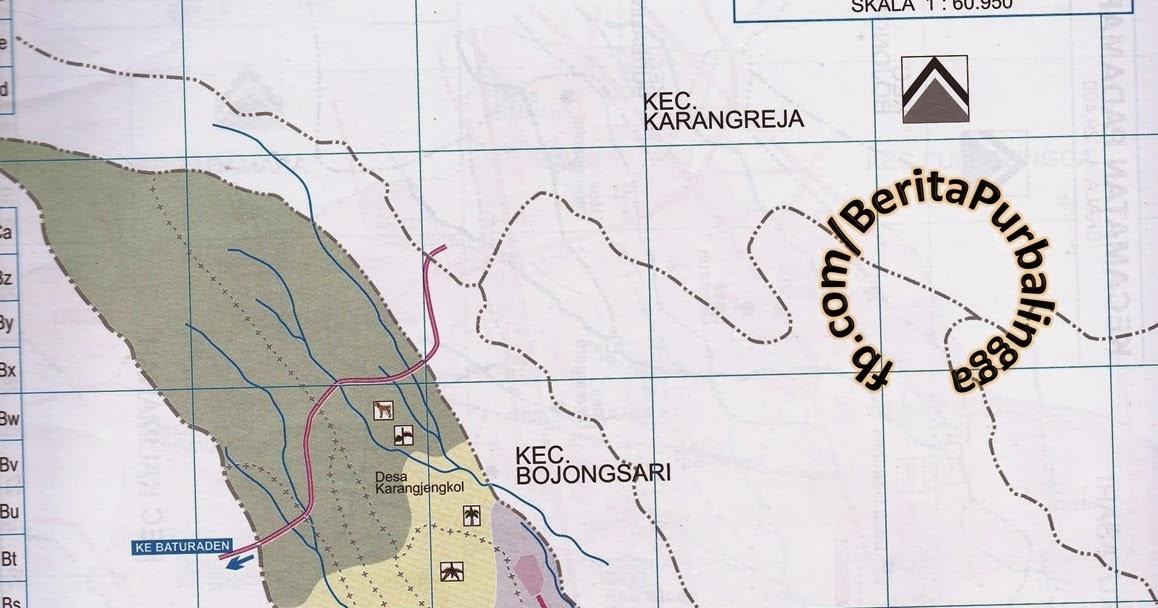 Peta Kecamatan Kutasari (Kodepos: 53361) | Download Peta ...