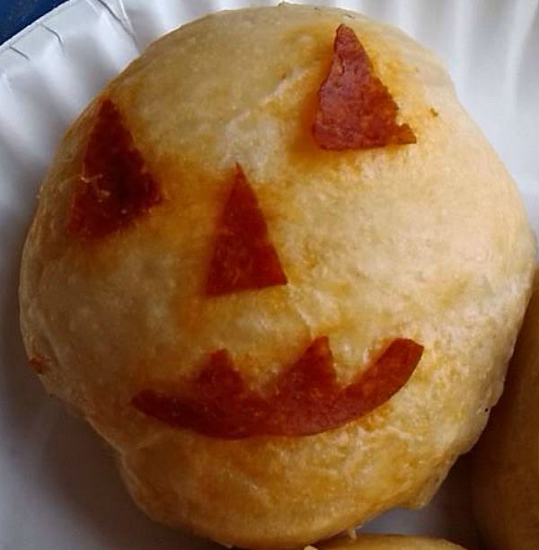 Easy Jack-o-lantern, pumpkin biscuit is fun to make for Halloween.